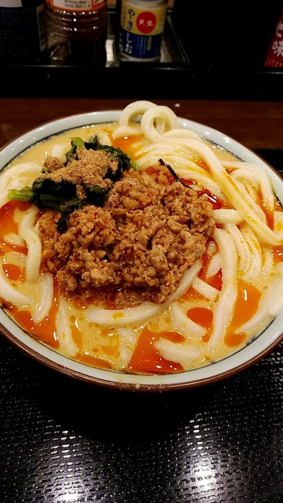 写真:丸亀製麺の坦々